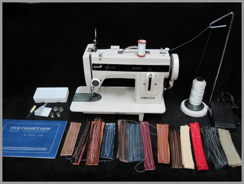 WALKING FOOT INDUSTRIAL STRENGTH Sewing Machine HEAVY DUTY Mesmerizing Omega Stitch Art Sewing Machine
